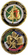 PUT ON THE WHOLE ARMOR OF GOD COIN