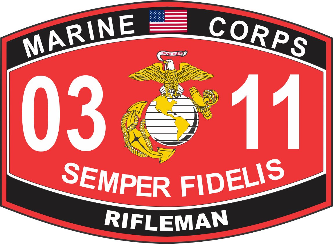 Marine Corps MOS 0311 USMC Military Decal
