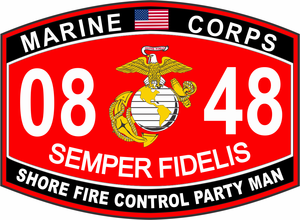 Shore Fire Control Party Man Marine Corps MOS 0849 USMC Military  Decal