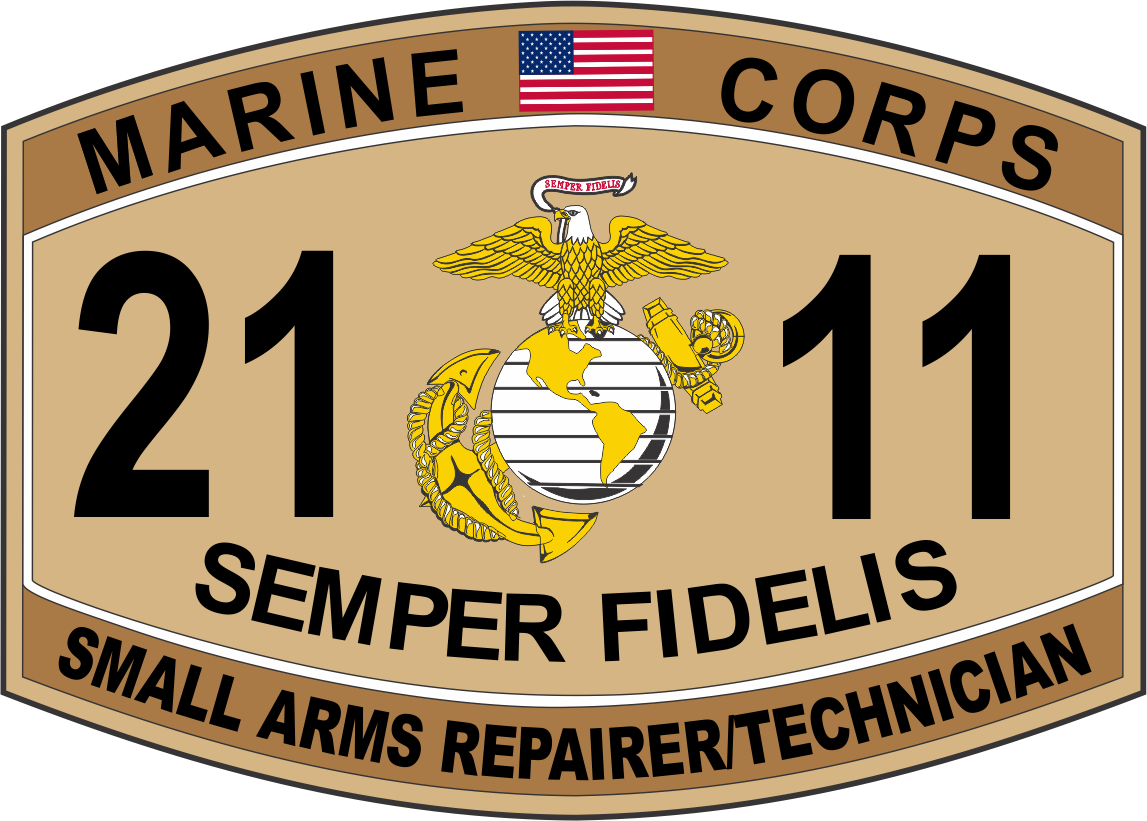 small arms repairer technician marine corps mos 2111 usmc small arms repairer technician marine corps mos 2111 usmc military decal