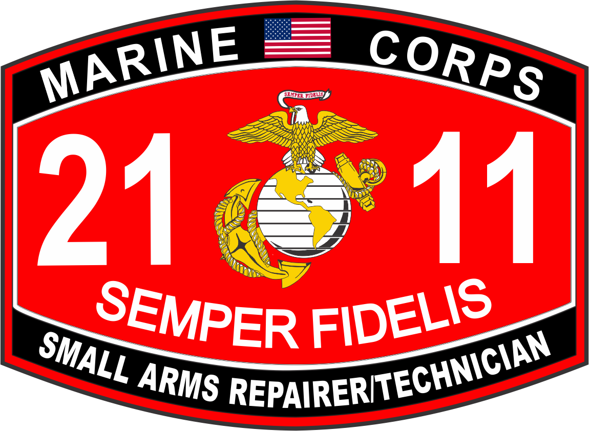 arms repairer technician marine corps mos 2111 usmc military decal small arms repairer technician marine corps mos 2111 usmc military decal