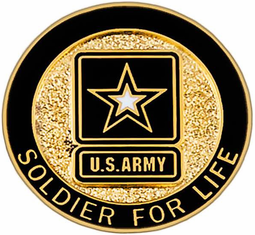 Soldier for Life Lapel Pin