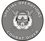 Special Forces Combat Diver 2 Decal