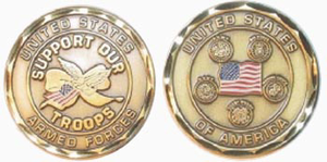 Support Our Troops Challenge Coin