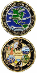 THE 7 DAYS OF CREATION Challenge Coin