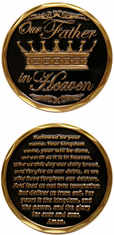 The Lords Prayer Challenge Coin