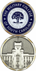 The Military College of South Carolina Challenge Coin