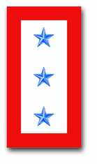 'THREE BLUE STAR' SERVICE FLAG VINYL TRANSFER DECAL