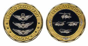 U.S. Army Aviation Challenge Coin