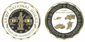 U.S. Army National Guard 'War on Terror' Challenge Coin