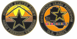 U.S. Army Operation Iraqi Freedom 'On Duty' Veteran Challenge Coin
