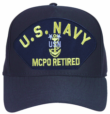 U.S. Navy MCPO Retired with Anchor Ball Cap