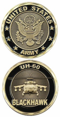 UH-60 Blackhawk US Army Challenge Coin