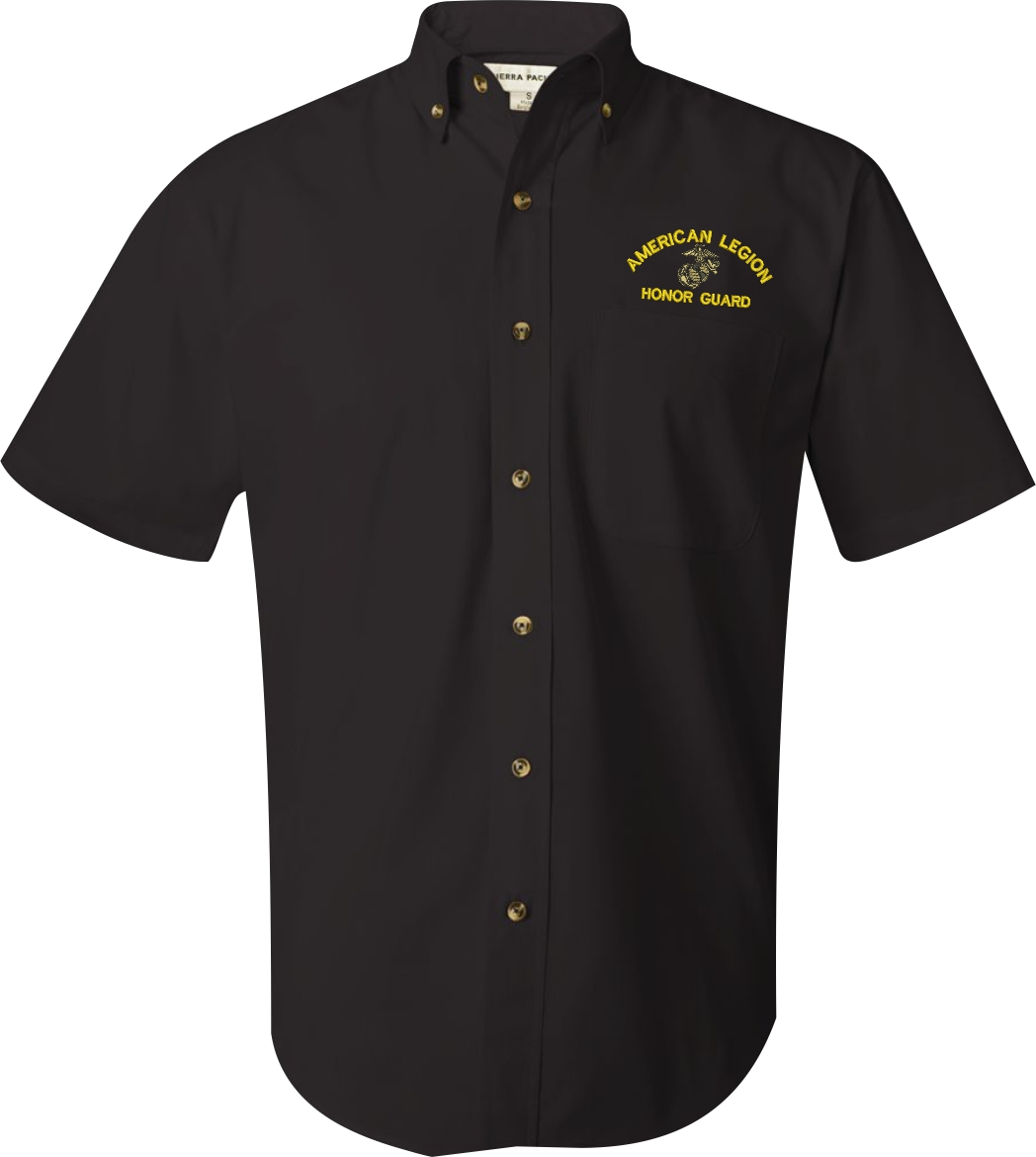 ... Marine Corps Custom Embroidered Featherlite Button Down Dress Shirts