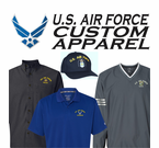 US Air Force Custom Embroidered Caps and Apparel