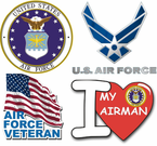 US Air Force Window Decals and Stickers