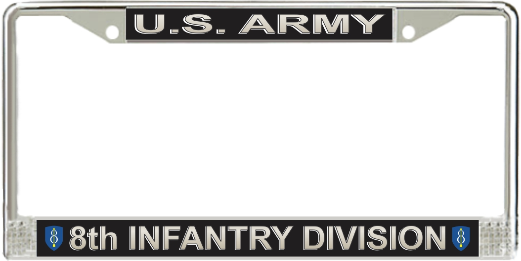 Us Army 8th Infantry Division License Plate Frame