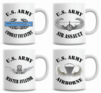 US Army Badge Mugs