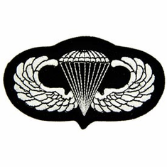 US Army Basic Jump Wings Parawings Patch