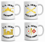 US Army Branch Coffee Mugs