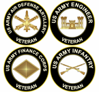 US Army Branch Veteran Decals