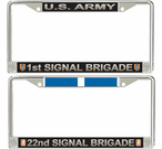 US Army Brigade License Plate Frames