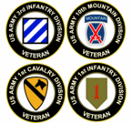 US Army Division Veteran Decals