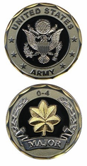 US Army Major O-4 Challenge Coin