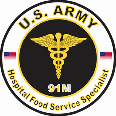 US Army MOS 91M Hospital Food Service Specialist