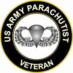 US Army Parachutist Veteran Sticker Decal