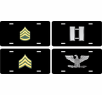 US Army Rank License Plates