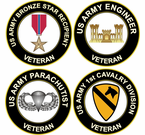 US Army Round Veteran Decals