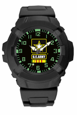 US Army Vietnam Veteran Rubber Strap Watch