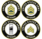 US Army Veteran Rank Decals