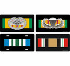 US Army Veteran Ribbon License Plates