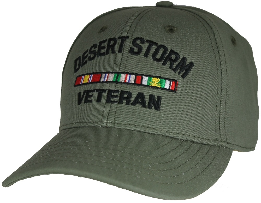 Made In Usa Desert Storm Veteran Od Green Ball Cap