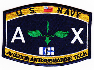US Navy Aviation Antisubmarine Tech AX Patch