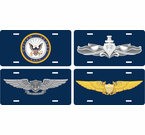 US Navy Badges and Insignias License Plates