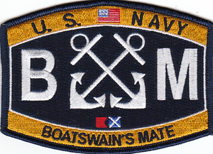 US Navy Boatswains Mate BM Patch