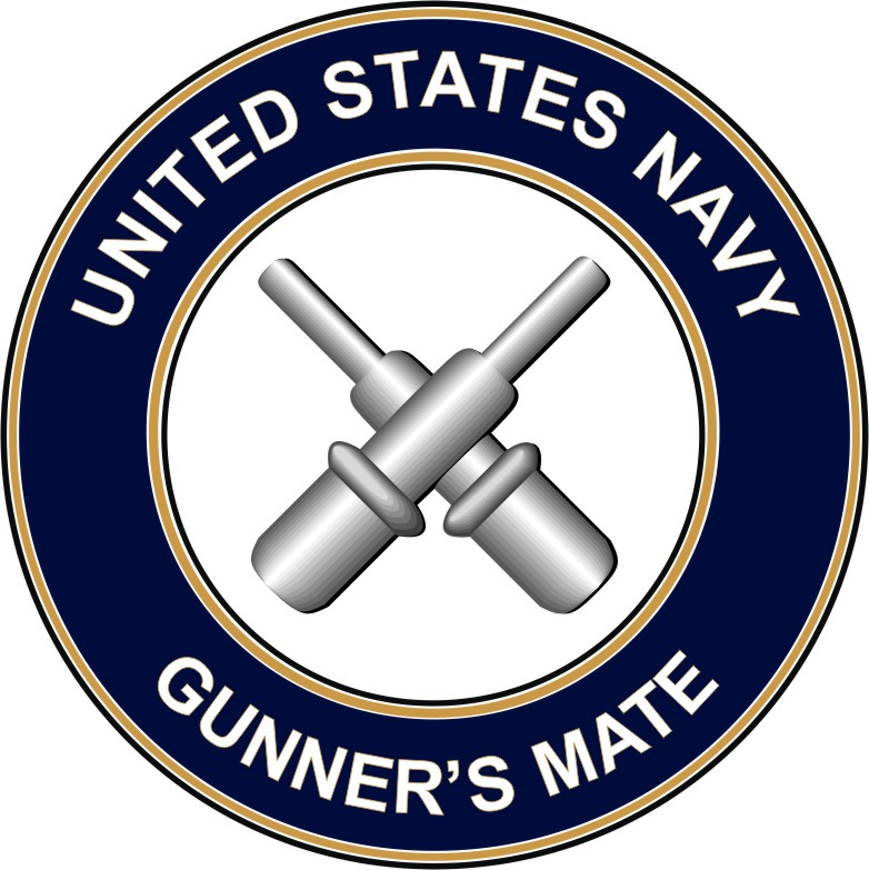 Navy Gunners Mate GM decal