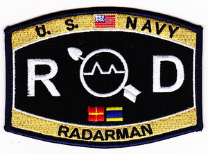 US Navy Radarman Rate RD Patch
