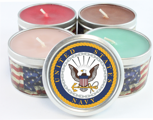 US Navy Emblem Scented Candles