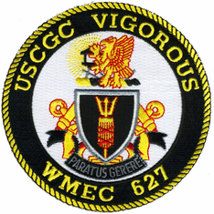 "USCGC Vigorous WMEC 627 4.5"" Military Patch"