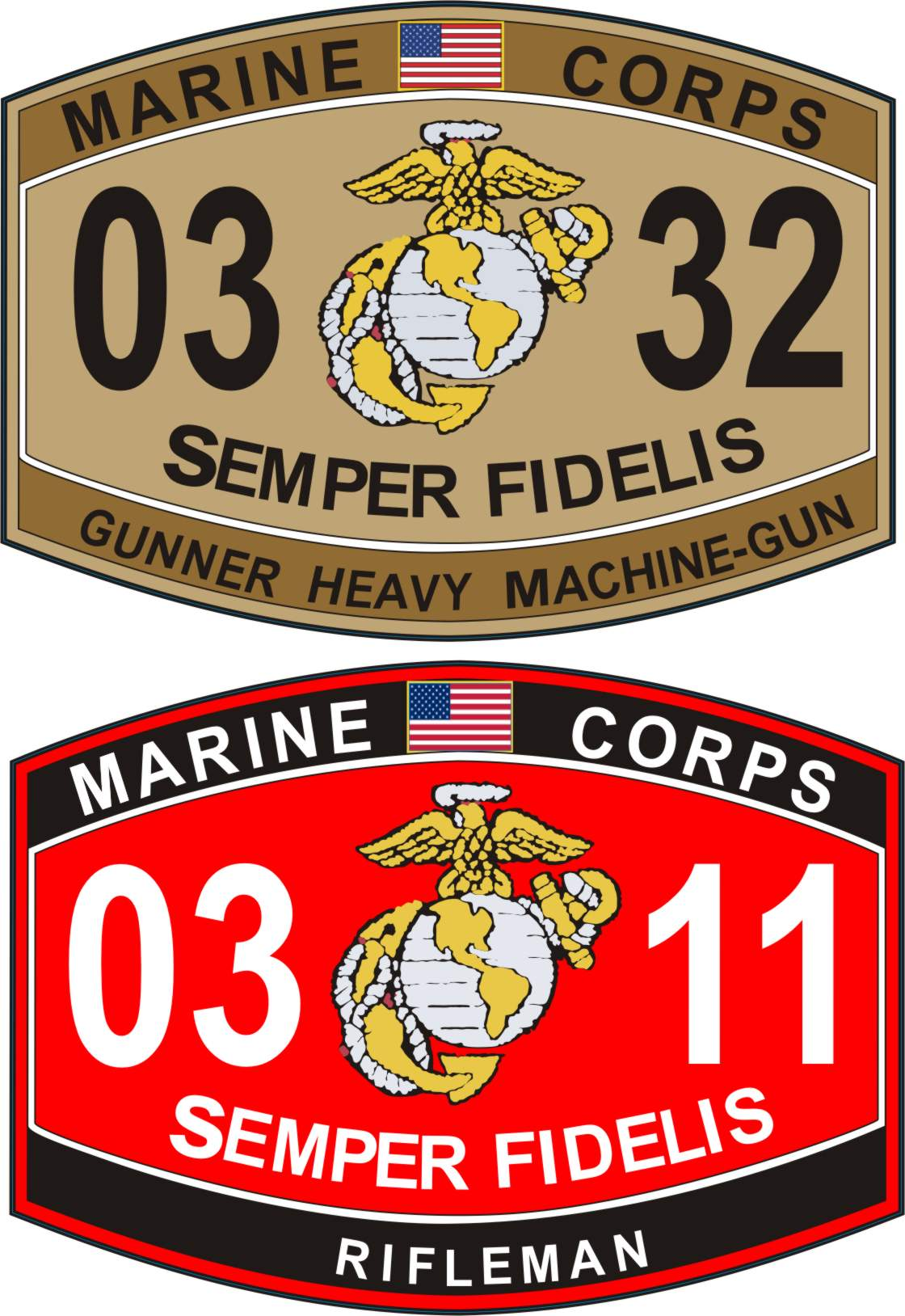 usmc military occupation specialty mos decals