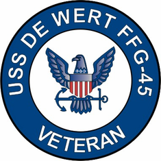 USS De Wert FFG-45 Veteran Decal Sticker