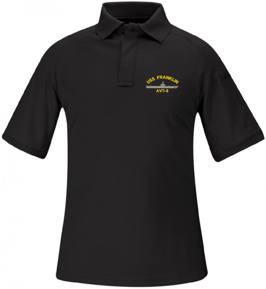 Custom Embroidered USS Franklin AVT-8 Propper Brand Polo: militarybest.com/custom-franklin-avt8-propper-polo.html