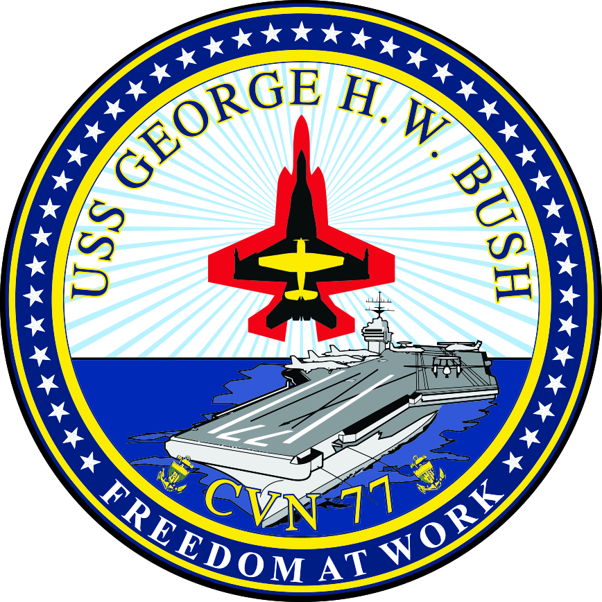 USS George H. W. Bush CVN-77 Crest Decal