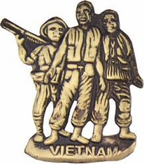 Vietnam 3 Men Lapel Hat Pin