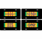 Vietnam Ribbon Location License Plates