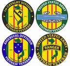 (Not for Sale, Pending U.S. Army Licensing Approval)Vietnam Veteran Round Decals